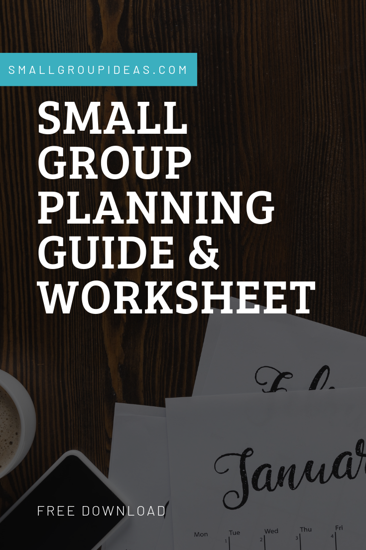 Small Group Planning Guide & Worksheet